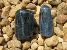 2 POLISHED BLUE KYANITE~ALIGNS CHAKRAS~DREAM RECALL~REMOVE BLOCKS 2303