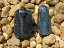 2 POLISHED BLUE KYANITE~ALIGNS CHAKRAS~DREAM RECALL~REMOVE BLOCKS 2303