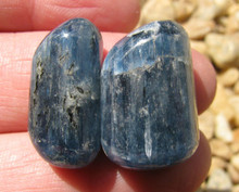 2 POLISHED BLUE KYANITE~ALIGNS CHAKRAS~DREAM RECALL~REMOVE BLOCKS 2300