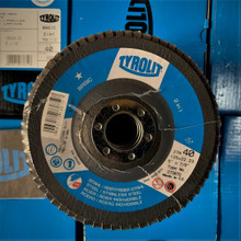 Flap Disc - 125 x 22 TYROLIT 2 in 1 P40  (FLD14) Pk 10