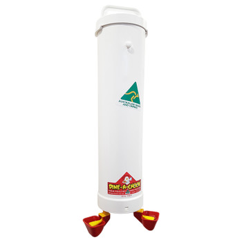 Automatic Chicken Waterer Drinker Unit with Twin German Lubing Cups