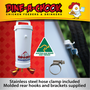 Don't visit the hardware store. Dine a Chook's Automatic Chicken Drinker comes with a top quality stainless steel hose clamp and a customised mounting kit!