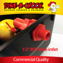 Industrial-standard PVC inlets and outlets on our most reliable Automatic Chicken Drinker. Lubing Header Tank Drinkers come with a 2 year warranty and are designed to withstand constant mains water pressure.