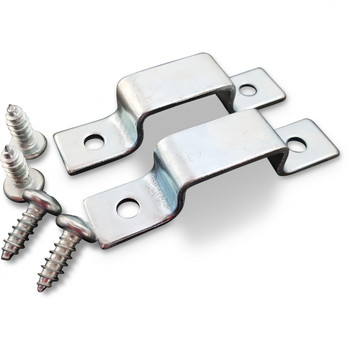 The Dine a Chook Mounting Kit for the installation of our classic Chicken Feeders and Chicken Drinkers in NZ chicken coops. Contains 2 stainless steel brackets and 4 screws for use with a standard drill bit. All Feeders and Drinkers come with a complimentary Mounting Kit for easy installation.