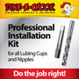 Install lubing cups and nipples for your Poultry Waterer with this handy DIY Professional Installation kit