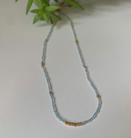 Blue and Gold Semi Precious Empowering Necklace - Tranquility