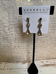 Champagne and Brass Drop Stud Earrings