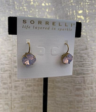 Pink Opalescent 4 Prong 18K Gold Drop Earrings