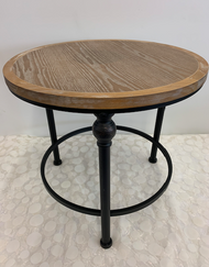 Round Wooden Side Table - SM