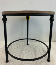 Round Wooden Side Table - LG