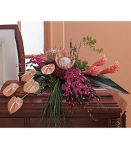 Tropical Casket Arrangement