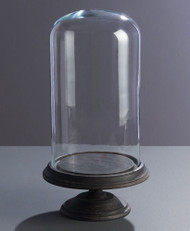17-1/4 Inch Toulouse Cloche on Wood Pedestal