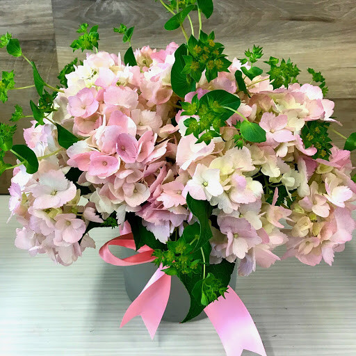 Bouquet Of Pink Hydrangeas By Milwaukee Florist The Flower Lady