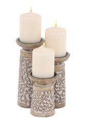 Wooden Decorative Candle Holders