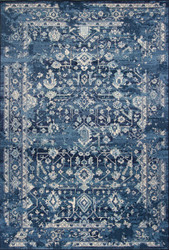 Oriental Style Area Rug in Blue