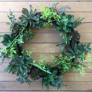 Large Succulent Wreath