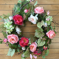 Garden Rose Spring Wreath