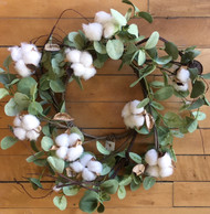Small Cotton & Eucalyptus Wreath