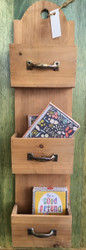 Wooden Wall Pocket Organizer