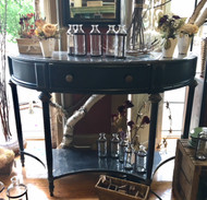 Black Distressed Metal Console Table