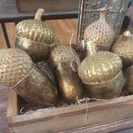 Gold Decorative Acorns