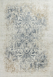 Weathered Blue Oriental Style Area Rug