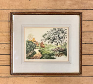 Original Etching of a Rural Scene by John Marin