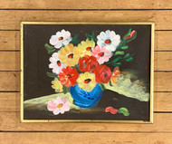 Original Painting of Flowers in Vase - Artist Unknown