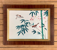 Original Oriental Silk Painting - Artist Unknown
