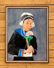Original Portrait Painting, Asian Woman, by J. Boardman