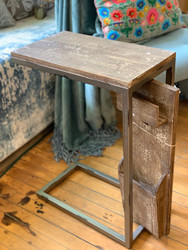 End Table with Revolving Side Panel