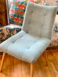 Dusty Aqua Accent Chair
