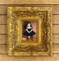 Painting of a Seated Girl (vintage reproduction)