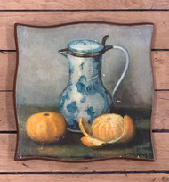 "Vintage Still Life Print on Wood – 8"" x 8"""
