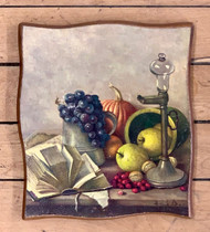 "Vintage Still Life Print on Wood - 7""x8"""