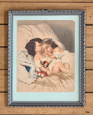 Vintage Framed Print of Sleeping Children