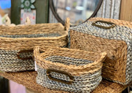 Egg Blue Woven Baskets