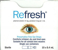 Refresh Eye Drops 0.4mL Pkt 10