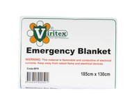 Viritex Shock Emergency Foil Blanket 1.8m x 1.27m