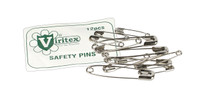 Viritex Safety Pins Assorted Sizes Pkt 12