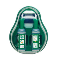 Braun Eye Wash Emergency Station with 2 x 500mL Bottles of Saline + Wall Plate