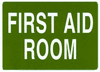 First Aid Room Sign Plastic 22.5cm x 30cm