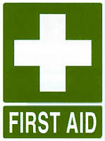 First Aid Sign Plastic 22.5cm x 30cm