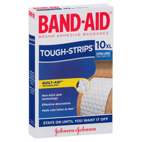 BAND-AID Tough Strips Extra Large Pkt 10