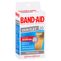 BAND-AID Skin Flex Regular Strips Pkt 20