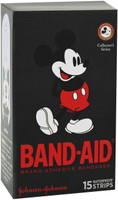 BAND-AID Character Strips Mickey Mouse Pkt 15