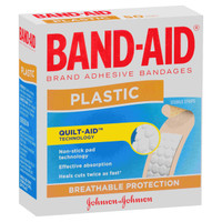 BAND-AID Plastic Strips Pkt 50