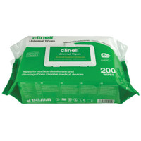 Clinell Universal Sanitising Wipes Soft Pack 200
