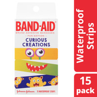 BAND-AID Curious Creations Waterproof Strips Pkt 15