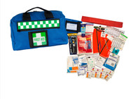 Ufirst Aid Kit: Drivers Safety in Portable Blue Case